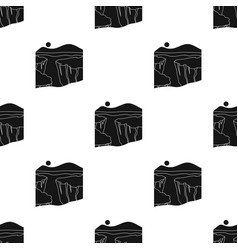 grand canyon icon in black style isolated on white vector image