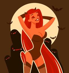 Halloween devil vector