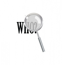 magnifier with who question vector image
