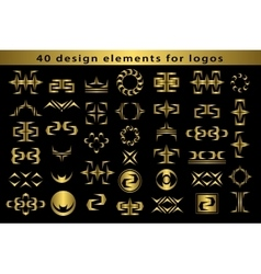 Set Creative icon monogram design elements with vector image vector image