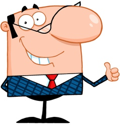 Business Manager Showing Thumbs Up vector image