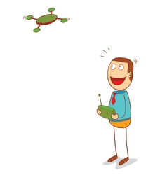 drone controlling vector image vector image