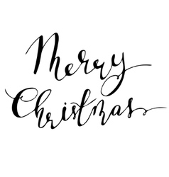 Merry Christmas hand lettering signature vector image vector image