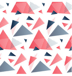 red and grey triangles vector image