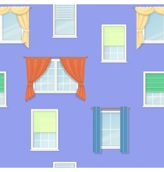 windows curtains seamless background vector image