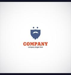 beard man company logo vector image vector image