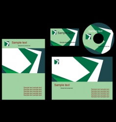elements of corporate style vector image