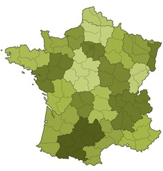 France regions and departments vector image