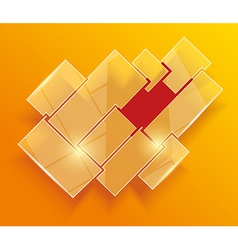Glass framework set Website template design vector image