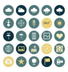 Icons plain round ui program vector