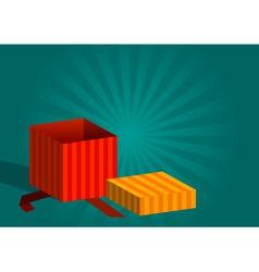 open gift vector image