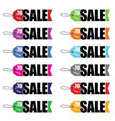 sale tag set in color vector image