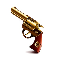 Steampunk gun isolated on white vector image