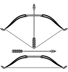 stencils of bow vector image