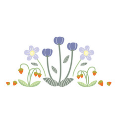with flowers collection vector image