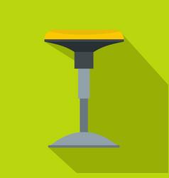 yellow bar stool icon flat style vector image