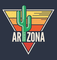 arizona t-shirt design print typography label vector image