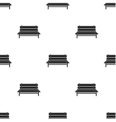 bench icon in black style isolated on white vector image vector image