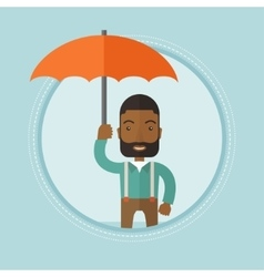 Businessman insurance agent with umbrella vector image vector image