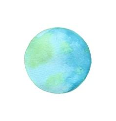 Earth globe of watercolor vector image