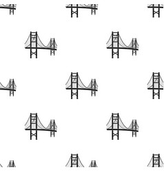 golden gate bridge icon in black style isolated on vector image vector image
