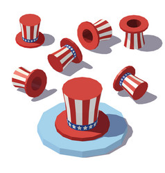isometric uncle sam hat vector image