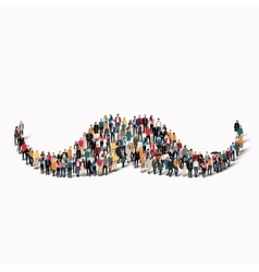 people shape mustache hipster vector image