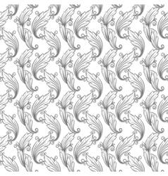 seamless monochrome pattern damask vector image