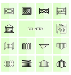 14 country icons vector
