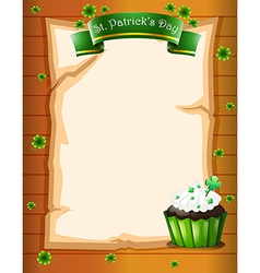 A stationery designed for St Patricks day vector image