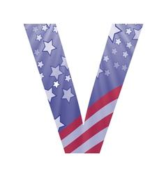 american letter V vector image