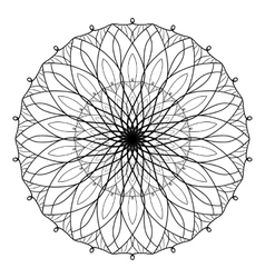 Antistress coloring book with geometric vector