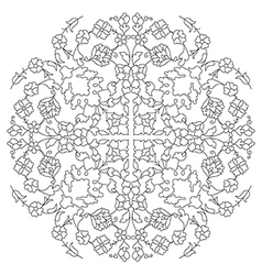 Artistic ottoman line pattern series twenty nine vector