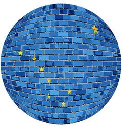 Ball with alaska flag vector