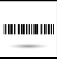 Barcode and number icon vector