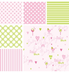 Bashower seamless patterns - swatches vector