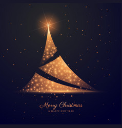 Beautiful dark background with creative christmas vector