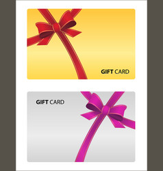Beautiful gift card isolated business card vector