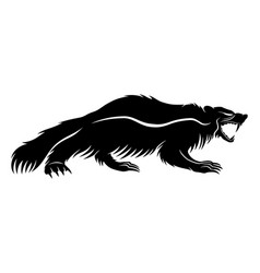 Black wolverine sign vector