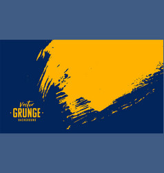 Blue and yellow abstract grunge texture vector