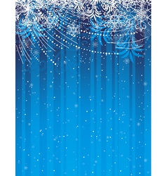 blue grunge christmas background vector image