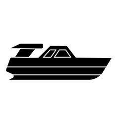 boat launch - yacht icon vector image