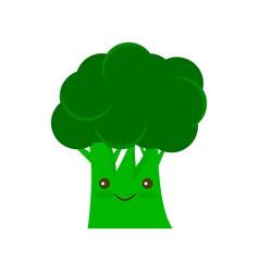 Broccoli icon flat sign vector