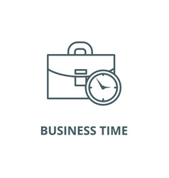 business case with time line icon vector image