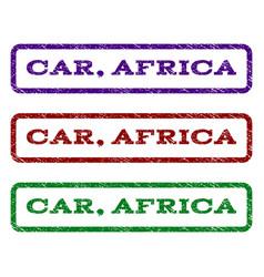 car africa watermark stamp vector image
