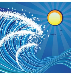 Cartoon Stormy Sea vector