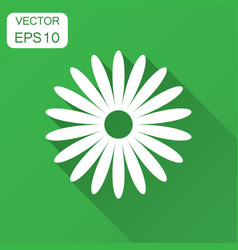 chamomile flower icon in flat style daisy with vector image
