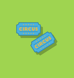 Circus show entrance tickets templatecolorful vector