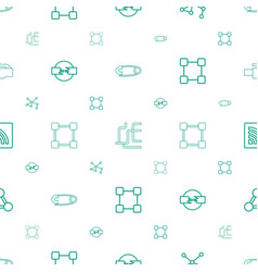 connect icons pattern seamless white background vector image
