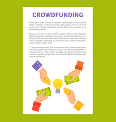 crowdfunding strategy text vector image